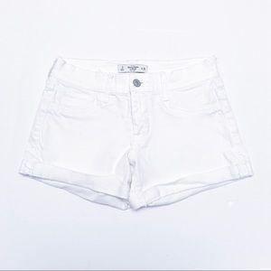 Abercrombie & Fitch - White Denim Shorts